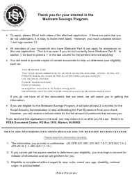 "State Form 49228 ""Application for Medicare Savings Program (Qmb, Slmb, Qi)"" - Indiana"