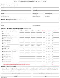 "Form DO-41 ""Request for Copy of Kansas Tax Documents"" - Kansas"