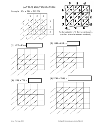 """Lattice Multiplication Worksheet - Peter Liljedahl, Simon Fraser University"""