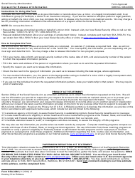 Form SSA-3288 Consent for Release of Information