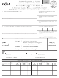 Form 4506-a Request for Copy of Tax Form or Individual Income Tax Account Information - Alabama