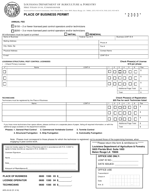 Form AES-23-03  Printable Pdf