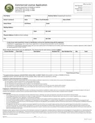 """Commercial License Application"" - Louisiana"