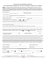 "Form SDATRP_1 ""Assessment Exemption for an Improvement Required for the Health or Medical Condition of a Resident"" - Maryland"
