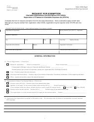 "Form CTS-03 ""Request for Exemption"" - Michigan"