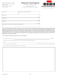 """Form MN RF03 """"Request for Formal Hearing"""" - Minnesota"""
