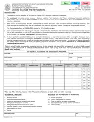 "Form MO580-3247 ""Vaccine Wastage and Return Form"" - Missouri"