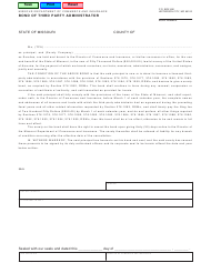 "Form MO375-1811 ""Bond of Third Party Administrator"" - Missouri"
