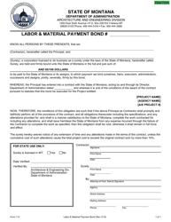 "Form 113 ""Labor & Material Payment Bond"" - Montana"