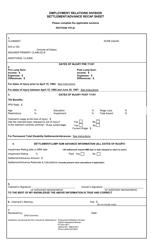 """""""Settlement/Advance Recap Sheet"""" - Montana"""