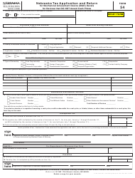 "Form 54 ""Nebraska Tax Application and Return for Mechanical Amusement Device (Mad) Decals for Devices That Do Not Award Cash Prizes"" - Nebraska"