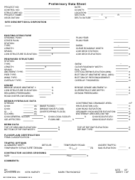 "BR Form 359A ""Preliminary Data Sheet"" - Nebraska"