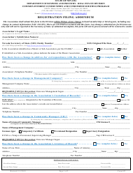 "Form 623 ""Registration Filing Addendum"" - Nevada"