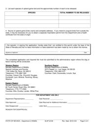 "Form SLAP22.89 ""Application for Dog/Falcon Training Permit"" - Nevada, Page 2"
