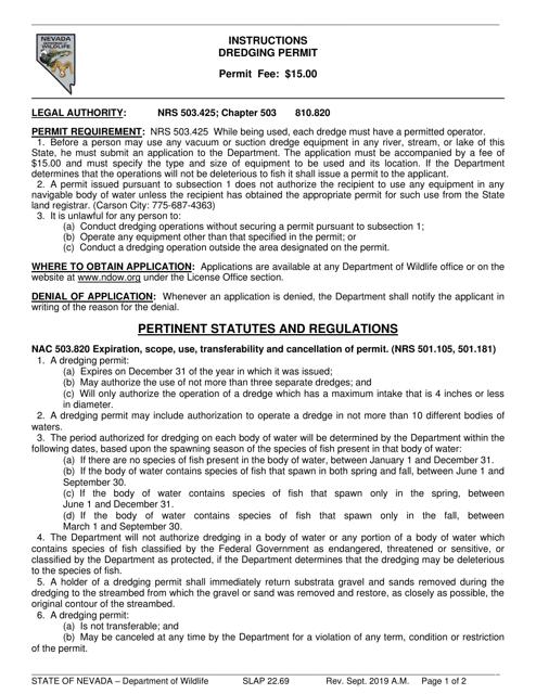 Form SLAP22.69 Printable Pdf