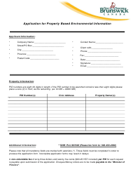 """Application for Basic Property-Based Environmental Information"" - New Brunswick, Canada"