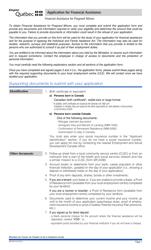 "Form SR-2437A ""Application for Financial Assistance"" - Quebec, Canada"