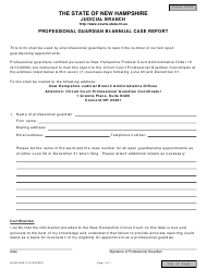 "Form NHJB-2938-P ""Professional Guardian BI-Annual Case Report"" - New Hampshire"