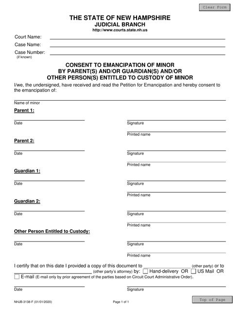 Form NHJB-3138-F  Printable Pdf