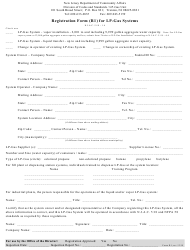 "Form R1 ""Registration Form for Lp-Gas Systems"" - New Jersey"