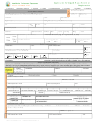 "LW Form 401E ""Application for Liquid Waste Permit or Registration"" - New Mexico"