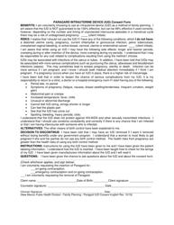 """Paragard Intrauterine Device (Iud) Consent Form"" - New Mexico"