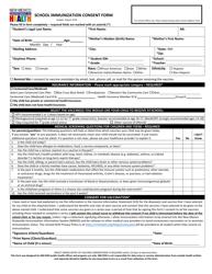 """School Immunization Consent Form"" - New Mexico"
