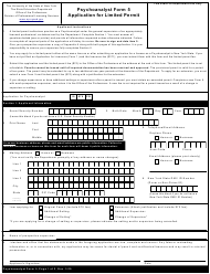"""Psychoanalyst Form 5 """"Application for Limited Permit"""" - New York"""