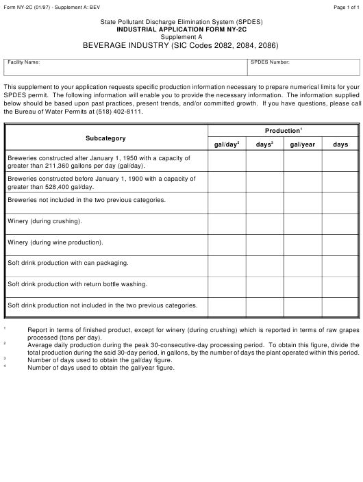Form NY-2C Supplement A  Printable Pdf