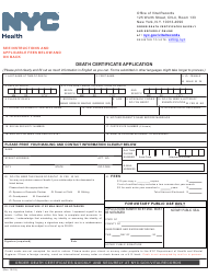 """""""Death Certificate Application"""" - New York City"""