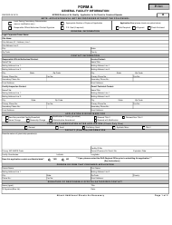 "Form A ""General Facility Information"" - North Carolina"