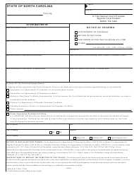 "Form AOC-E-211 ""Notice of Hearing Appointment of Guardian/Motion in the Cause/And Order Appointing Guardian Ad Litem/Other"" - North Carolina"