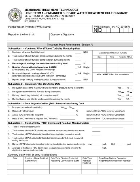 Form SFN59082  Printable Pdf