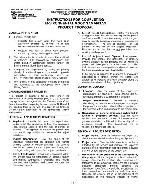 Form 5600-PM-BMP0020 Printable Pdf