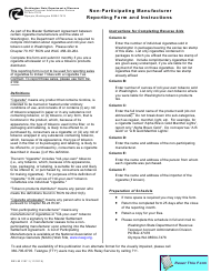 "Form REV82 2107 ""Non-participating Manufacturer Reporting Form"" - Washington"