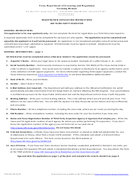 "TDLR Form IHB105 ""Application for Registration - Ihb Third Party Inspector"" - Texas"