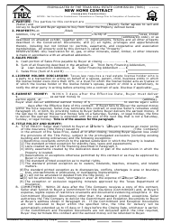 "TREC Form 23-15 ""New Home Contract (Incomplete Construction)"" - Texas"