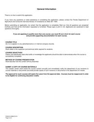 "Form FDACS-03586 ""Lp Gas Continuing Education Course Approval Application"" - Florida, Page 2"
