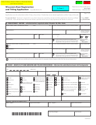 "Form 9400-193 ""Wisconsin Boat Registration and Titling Application"" - Wisconsin"