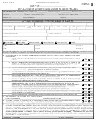 "Form SP4-127 ""Application for a Pennsylvania License to Carry Firearms"" - Pennsylvania"