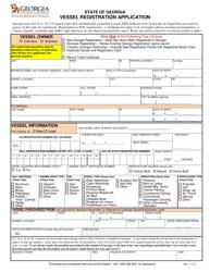 """Vessel Registration Application"" - Georgia (United States)"