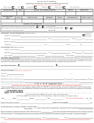 "Form MV-300A ""Application for Certificate of Title and Vin/Hin Inspection Form"" - Wyoming"
