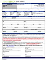"""Permit Application"" - City of Miami Beach, Florida"