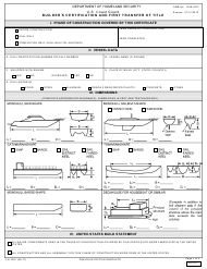 "Form CG-1261 ""Builder's Certification and First Transfer of Title"""