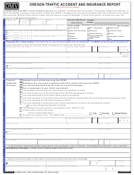 """Form 735-32 """"Oregon Traffic Accident and Insurance Report"""" - Oregon"""
