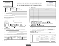 "Form DNR-GW-1S ""Water Well Registration Short Form"" - Louisiana"