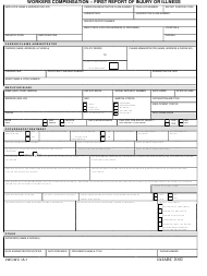 "Form LWC-WC IA-1 ""Workers Compensation - First Report of Injury or Illness"" - Louisiana"