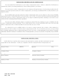 "Form LWC-WC-1025.ER ""Employer Certificate of Compliance"" - Louisiana"