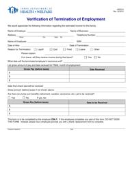 "Form HW0516 ""Verification of Termination of Employment"" - Idaho"