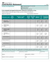 "Form HW0517 ""Contribution Statement"" - Idaho"
